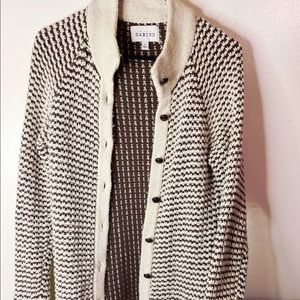 Creamy brown cardigan sweater